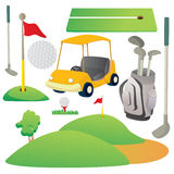 Golf Cartoon Elements Royalty Free Stock Photo