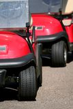 Golf carts stock photography