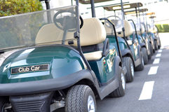 Golf carts Stock Images