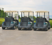Golf carts royalty free stock images