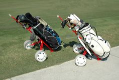 Golf Carts. Photographed golf carts at a local course in Florida Royalty Free Stock Image