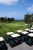 Golf carts on beautiful golf  Royalty Free Stock Photos