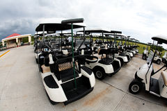 Golf carts in a Cancun resort Stock Photography