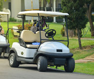 Golf carts stock photography