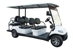 Golf carts or electric golf cart isolated on white background with with Clipping Part