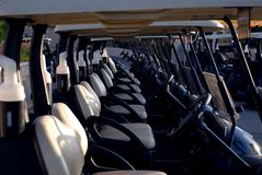 Golf Carts in Line Stock Images