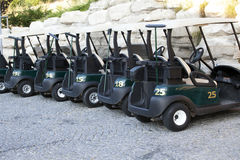 Golf Carts. On the parking stock photography