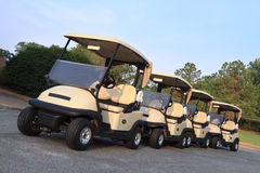 Golf Carts Ready For Players Stock Photography