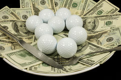 Golf cash meal Royalty Free Stock Images
