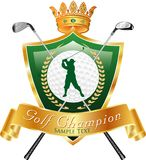 Golf champ Stock Photography