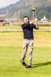 Golf champion Stock Image