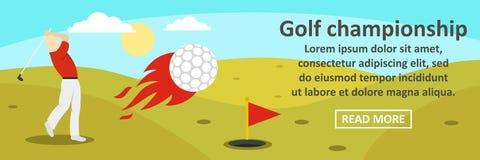 Golf championship banner horizontal concept. Flat illustration of golf championship banner horizontal vector concept for web design Royalty Free Stock Photos