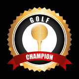 Golf championship design. Illustration eps10 graphic Royalty Free Stock Images