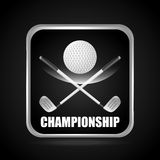 Golf championship design. Illustration eps10 graphic Stock Photography