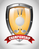 Golf championship design. Illustration eps10 graphic Stock Photos