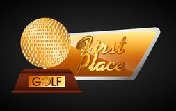 Golf championship design. Illustration eps10 graphic Royalty Free Stock Image