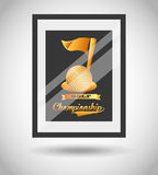 Golf championship design. Illustration eps10 graphic Stock Images