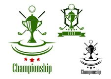 Golf championship emblem or banner Royalty Free Stock Photography