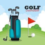 Golf championship sport icon Stock Photo