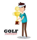 Golf championship sport icon Royalty Free Stock Photo