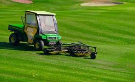 Golf che raccoglie veicolo Fotografia Stock