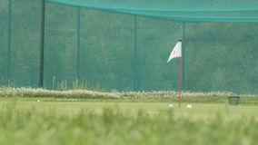 Golf chip and pitch training area. Green area stock footage