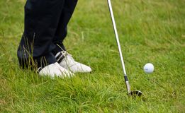 Golf chip shot from the rough Royalty Free Stock Images