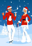 Golf on Christmas Royalty Free Stock Images