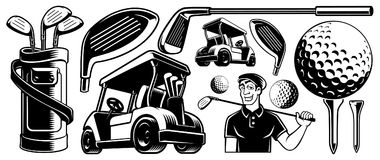 Golf clipart stock illustratie