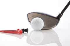 Golf Club. With tees and ball Royalty Free Stock Photo
