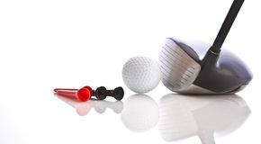 Golf Club. With tees and ball Royalty Free Stock Photos
