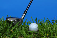 Golf and club Royalty Free Stock Photos