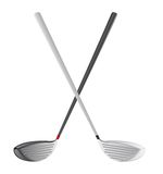 Golf club. Isolated over white background. vector illustration Royalty Free Stock Photography