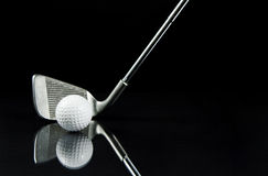 Golf Club. Image of a club and ball with reflection Stock Photo
