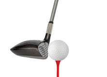 Golf Club. Ball and tee isolated on a white background Royalty Free Stock Photo