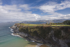 Golf club. On a peninsula in Santander bay Stock Photo