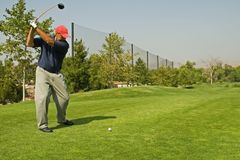 Golf Club Action Stock Photo
