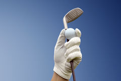 Golf club against a blue sky Stock Photography