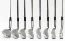 Golf club angle on white background. Stock Photos