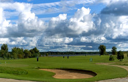 Golf club ashore lake in Riga Stock Photo