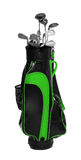 Golf club bag. Golf club bag on white background Royalty Free Stock Images