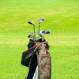 Golf club. Bag with golf clubs Royalty Free Stock Photo