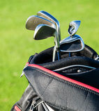 Golf club. Bag with golf clubs Stock Photo