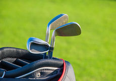 Golf club. Bag with golf clubs Royalty Free Stock Image