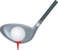 Golf club and ball. Simple icon style illustration of a golf club and ball Stock Image