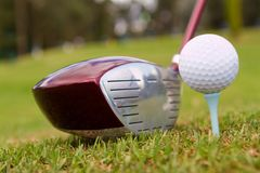 Golf club with a ball Royalty Free Stock Photo