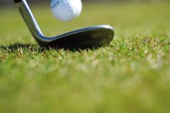 Golf club and ball Royalty Free Stock Images