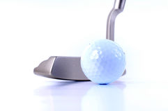 Golf Club and Ball. A Golf club and ball shot isolated on white background Stock Image