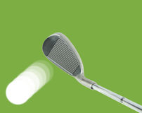 Golf club and ball with action Royalty Free Stock Image