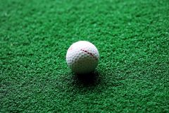 Golf club and ball Royalty Free Stock Photos